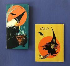 2 Vintage 1950s-1960s Halloween Tally Cards• Hallmark • Witches