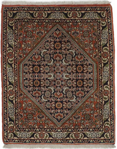 Vintage Style Orange Tribal Design Small 1'9X2'2 Handmade Oriental Rug Carpet