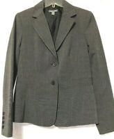 Apt 9 Womens Black/Gray 2-Button Stretch Blazer Size 8 New