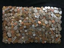 10 lbs circulated world coins, 20th century, good mix, bulk lot #22. See photos.