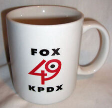 Fox 49 KPDX Coffee Mug Portland Oregon TV Station Smile Logo Retired 2002 Logo