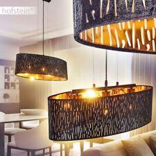 3-flammige Hänge Leuchte Retro Schlaf Wohn Ess Zimmer Beleuchtung Samt Effekt