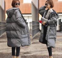 Womens Jacket Coat Outdoor Padded Outwear Loose Down Cotton Long Parka Korean J
