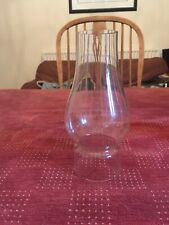 OIL LAMP CHIMNEY Single Glass 17cm High, 6cm wide at base, 4.5cm at top