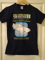 DeLorean 'Back to the Future' tshirt - Haynes Manual-style design - Small