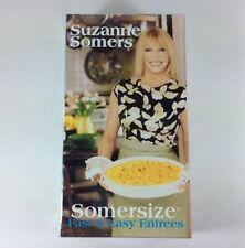 New VHS Suzanne Somers-Somersize 2 Pack Fast And Easy Entrees Desserts Recipes