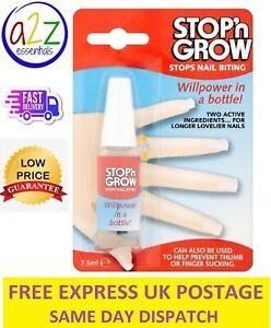 Stop Nail Biting Deterrent Stop n Grow 7.5ml Anti Thumb Sucking Solution for UK
