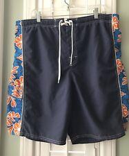 c1e081283c OP Sport Men's Swim Trunks Board Shorts Blue Orange Hawaiian Mesh Lining  Size L