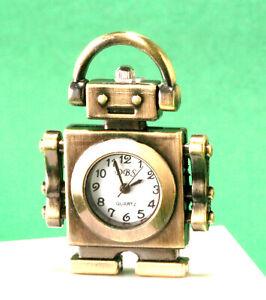 Miniature Novelty Clock Trio - Science Fiction Robot, RockRoll Guitar, Steampunk