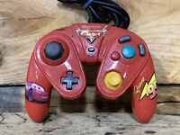 Disney Pixar Cars Nintendo GameCube Wired Red Controller Tested