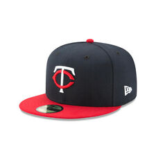 Minnesota Twins MLB New Era Authentic On-Field Road 59FIFTY Fitted Hat-Blue/Red
