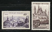 France 1951 MNH Mi 935-936 Sc 673-674 Abbaye aux Hommes,Caen **