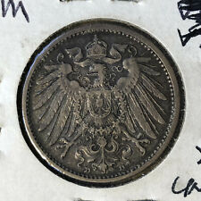 1909-D Germany 1 Mark Silver Coin XF/UNC Condition