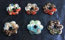 Wholesale Mix Colors Flower Pendant Lampwork Murano Glass Charm Necklace Making