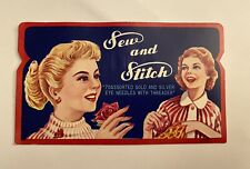 Vintage 1950's Sew and Stitch 70 Assorted Needles & Threader in sleeve intact
