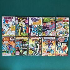 DC Comics Silver Age World's Finest Lot of 10 Comics Superman Batman Hawkman