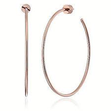 NWT Michael Kors Large Hoop Earrings Rose Gold SS MKJ4163 MKJ4163791 $65