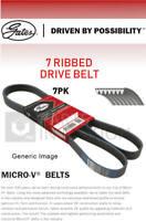 7 Rib Multi V Drive Belt fits RENAULT TRAFIC Mk3 1.6D 2014 on Gates 117207775R