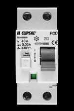 CLIPSAL 40 AMP 10kA 30mA DOUBLE POLE RCD T2240030S