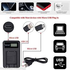Slb-10a Macchina Fotografica Caricabatteria & Cavo USB Samsung l100 l110 l200 l201 l210 l310