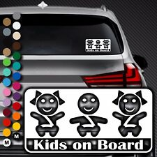 A87# Aufkleber Baby on Board Kind an Bord Tour Kinder Kids in Auto Buggy Sticker