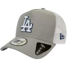 NEW ERA DIAMOND ERA ADJUSTABLE TRUCKER CAP. LOS ANGELES DODGERS. GREY