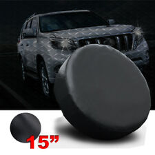 """15"""" black Spare Wheel Tire Covers Fit 235/75R15 235/70R16 235/65R17"""
