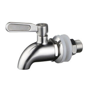 Beverage Dispenser Spigot Faucet STAINLESS STEEL 16 mm  Bar Tools - US SHIPPING