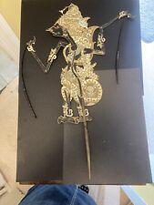 Vintage Wayang  Shadow puppet, hand made Asian art