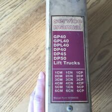CAT Caterpillar GP GPL DPL40 DP45 DP50 SERVICE SHOP REPAIR MANUAL FORKLIFT TRUCK