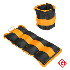 Wrist Ankle Weights 2kg Adjustable Strap Strength Gym Training Fitness Exercise