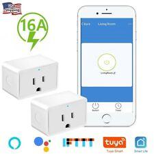 2x Nexete Smart Wifi Mini 16A Plug Outlet Swtich Work With Alexa/Google Home