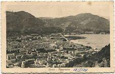 1924 Como panorama città barche Panissieres Chiasso FP B/N VG ANIM