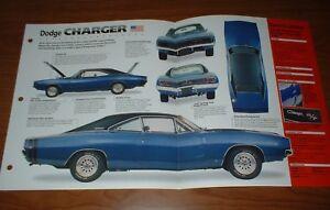 ★★1968 DODGE CHARGER ORIGINAL IMP BROCHURE SPECS INFO 68 69 70 MOPAR RT HEMI 440