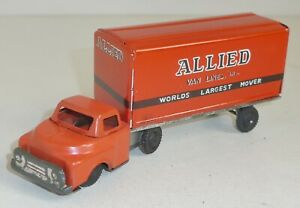 """HAJI Toys GMC o. Ford LKW """"ALLIED Van Lines"""" Friction Blech ca. 15,5 cm"""