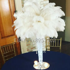 New Natural White Ostrich Feathers 6-8 inch/15-20cm 10/50/100 pcs Diy Carnival