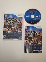 WII ROCK BAND 3 - COMPLETE - FREE SHIPPING