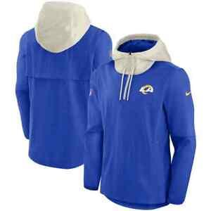 Brand New 2021 NFL Los Angeles Rams Nike Sideline Player Quarter-Zip Jacket NWT