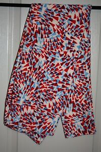 LuLaRoe - Leggings - Red, white & blue geom - Size T/C - NEW with tags