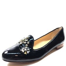 6ebe8e07b75 Kate Spade Black Patent Leather Slip On Loafer Flats Women s Size ...