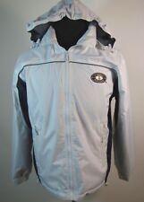 Cheneral Men's Windbreaker Sailing /Regatta Jacket Hooded White Blue Lining Sz S