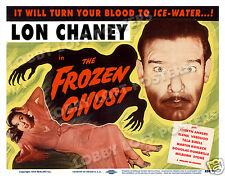 THE FROZEN GHOST LOBBY TITLE CARD POSTER 1954-R LON CHANEY EVELYN ANKERS