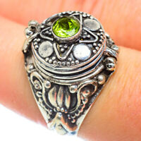 Peridot 925 Sterling Silver Poison Ring Size 8 Ana Co Jewelry R54483