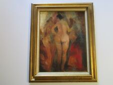 RARE  JACK LAYCOX ABSTRACT PAINTING CALIFORNIA EXPRESSIONISM 1960'S MOD NUDE