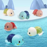 Cartoon Tortoise Baby Water Toy Swim Turtle Wound-up Chain Kids Beach Bath T np