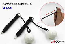 A99 Golf Fly Rope Ball II  Swing Hit Shot Sport Practice Training Train Aid 2pcs
