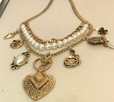 Triple  Strand Charm Necklace NWOT