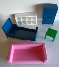Ikea Doll Furniture Lot Couch Table Cubbie Shelf Armoire Bed (Adjustable Length)