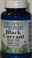 Black Currant Seed Oil 180 Capsules 1,000MG + GLA Gamma Linolenic Acid  Fresh!