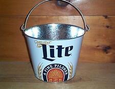 MILLER LITE 5QT. GALVANIZED BEER ICE BUCKET COOLER NEW